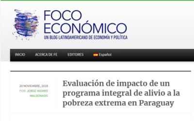 Evaluación de impactos de un programa integral de alivio a la pobreza extrema en paraguay
